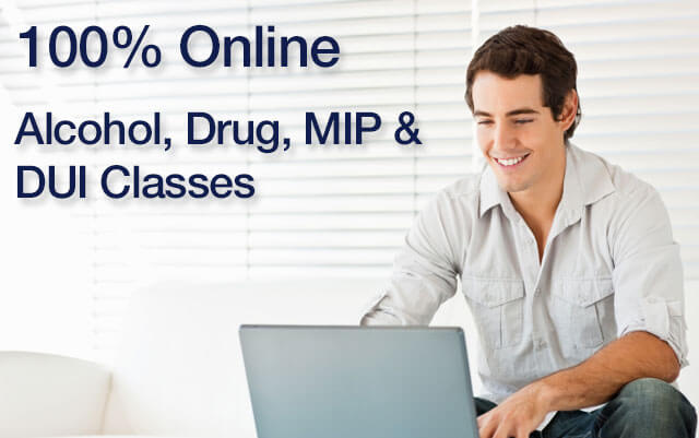 100% Online ALcohol, Drug, MIP and DUI Classes